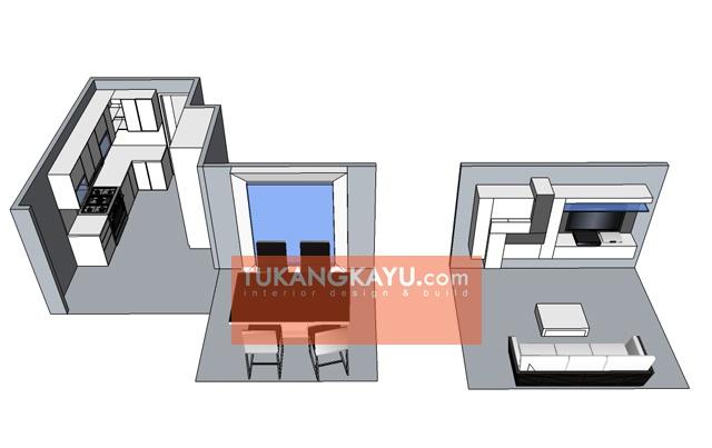 Desain Vira - Casa blanka 3 ruangan