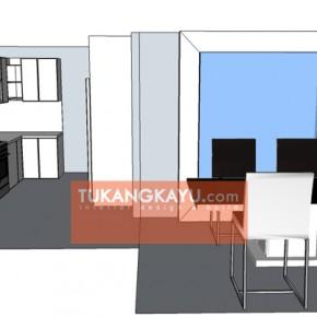 Desain Vira - Casa blanka - dining room + kitchen