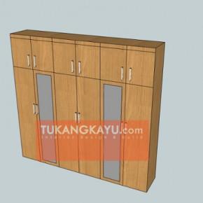 alfreed kramat - lemari kamar 1
